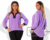 Яркая женская шифоновая блуза в больших размерах t-1515776
