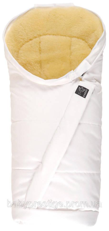 Kaiser - теплый конверт Премиум Coosy-Sheepskin medi, сверкающий белый