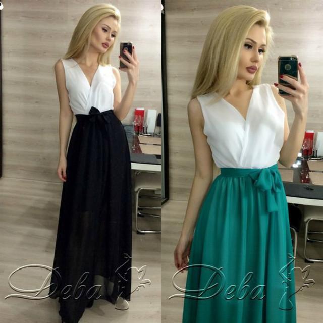 Купить шифоновое платье в пол в Украине