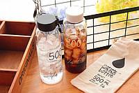 "Бутылка для воды ""Drink water with this bottle"""