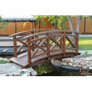 Деревянный мостик из состаренного дерева ручной работы
