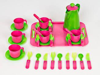 Набор посуды с подносом