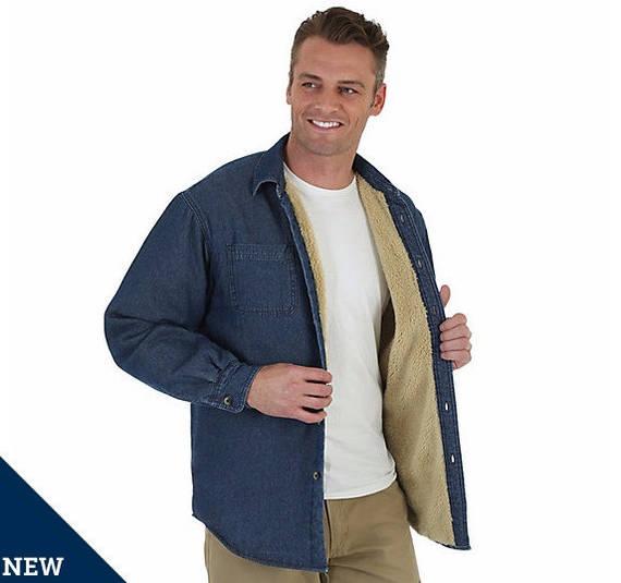 Джинсовая рубашка на меховой подкладке Wrangler - Medium Wash