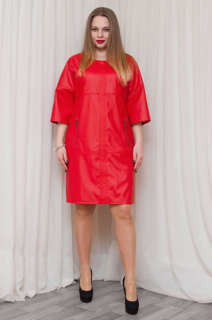 2420756ba4f Модное кожаное платье большого размера - оптово - розничный интернет -  магазин