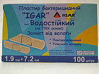 Лейкопластырь бактерицидный водостойкий 1,9*7,2 см / ИГАР