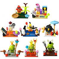 Фигурки Angry birds конструктор Лего 8 шт(5 птиц+3 свиньи) Новинка