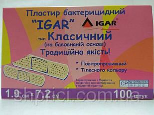 Пластырь бактерицидный 1.9*7.2 см Классический / ИГАР