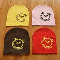 Шапочки  Bape детские для мальчика и девочки  Мишка красный