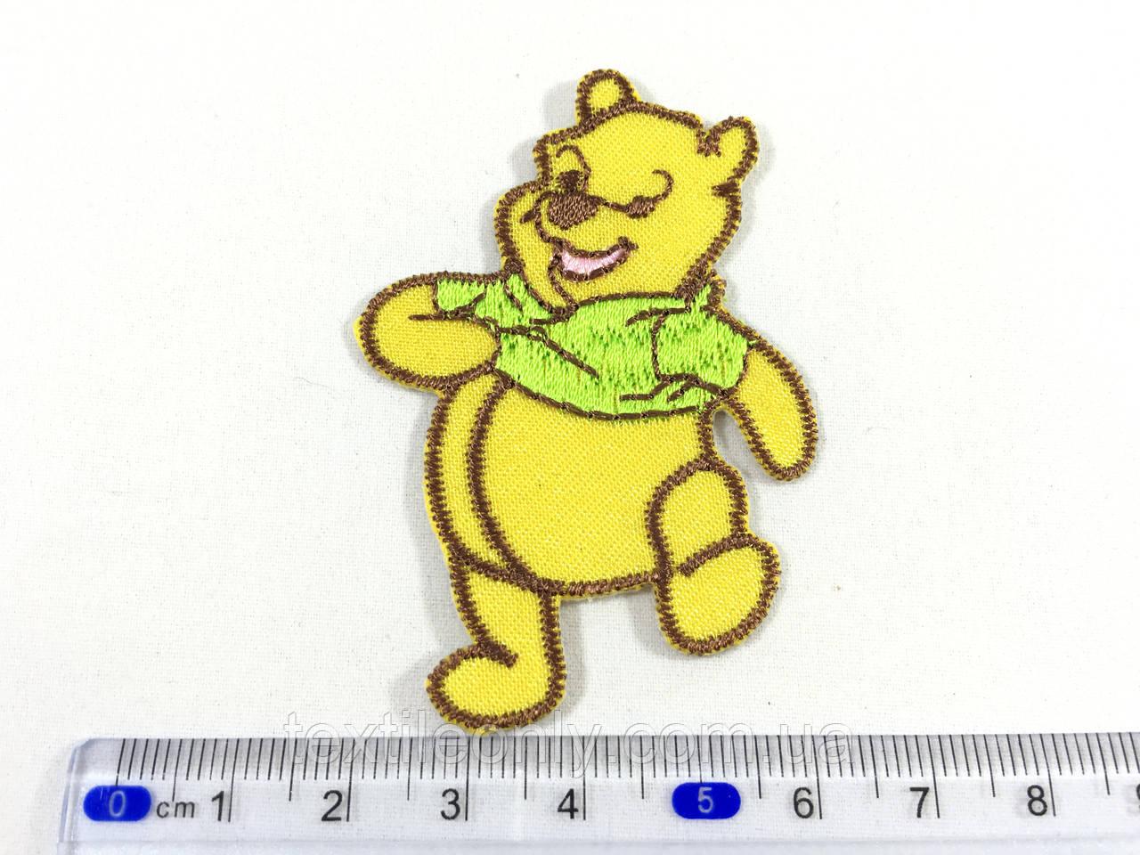Детская нашивка Винни пух цвет желтый
