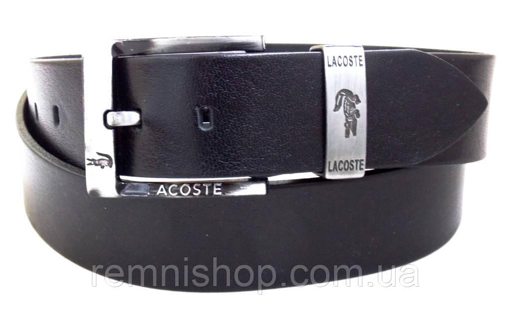 Кожаный мужской ремень Lacoste для джинс