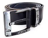 Кожаный мужской ремень Lacoste для джинс, фото 2