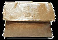 Элегантная женская сумочка синего, коричневого, бежевого цвета прямоугольная