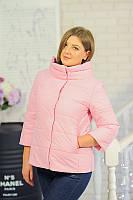 Женская куртка (осень/весна) Фреш  пудра р. 42-50