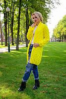 Вязаный женский кардиган в стиле Лало, желтый, фото 1