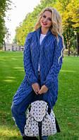 Вязаный женский кардиган в стиле Лало, джинс, фото 1