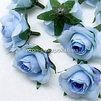"""Головы цветов """"Розочка"""" d=3,5см, цена за 10 шт, цвет - голубой"""