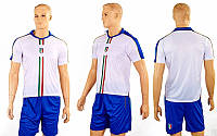 Форма футбольная детская CO-3900-ITAL-1 ITALY гостевая (PL, р-р M-XL, белый-синий)