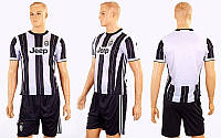 Форма футбольная детская CO-3900-JUV-3 JUVENTUS домашняя (PL, р-р M-XL, черный-белый)