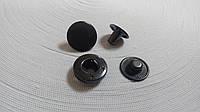 Кнопка Alfa 15мм никель/ блек никель
