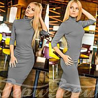 Классическое офисное платье до колен