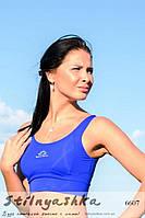 Спортивный женский топ индиго, фото 1