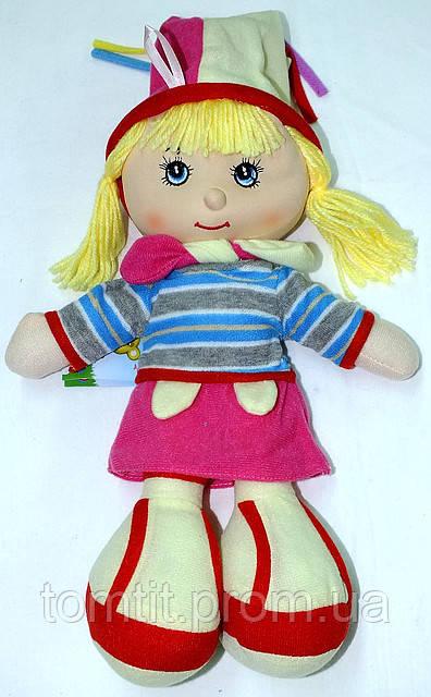 """Кукла мягконабивная, тканевая """"Шутиха"""" (розовая юбочка)"""