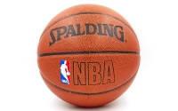 Мяч баскетбольный SPALDING  ( № 7, резина, бутил, коричневый)