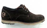 Туфли мужские замша Top-Hole коричневые To0002