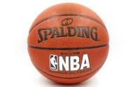 Мяч баскетбольный PU №7 SPALD NBA WIDE CHANEL (PU, бутил, оранжевый)