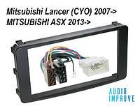Переходная рамка 2din для MITSUBISHI OUTLANDER ASX LANCER ISO переходник