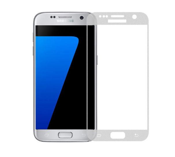 Full Cover защитное стекло для Samsung Galaxy S7 (G930F) - Silver