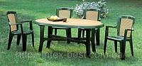 Комплект садовой мебели Wood, шесть кресел Viola и стол Danubio