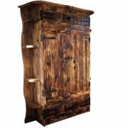 Деревянный шкаф из массива сосны под старину от производителя