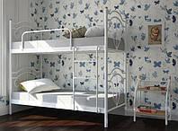 Кровать двухъярусная металлическая Диана 800х1900/2000 мм, Белый, бежевый