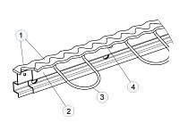 Диформационний шов для пола паркинга ТУ У В.2.6-24.3-21201441–009:2014 (Синус-профиль)