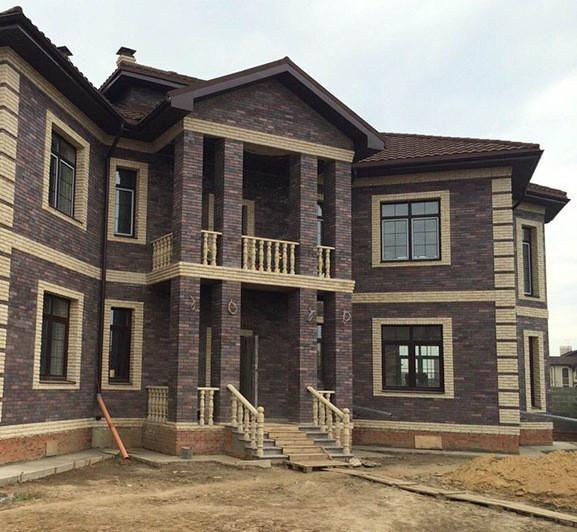 Дом из облицовочного кирпича СТРОИТЕЛЬСТВО.House of bricks