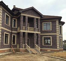 Будинок з лицювальної цегли БУДІВНИЦТВО.House of bricks