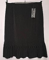 Женская юбка батального размера с плиссировкой