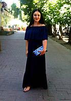 Вікторія з клатчем Блакитна розпис від МальваОпт!