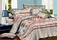 Комплект постельного белья полуторный сатин, 100% хлопок. (арт.5695)