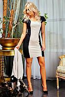 """Женский костюм платье с замшевым пиджаком """"Меган"""" (кофейно/черный)"""