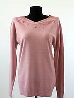 Женская нарядная кофта мягкий стрейч, розового цвета размер 52-54