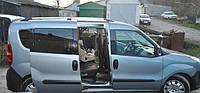 Рейлинги Fiat Doblo, Фиат Добло 2010 - короткая база хром (пластиковая ножка)