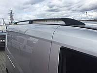 Рейлинги Fiat Doblo, Фиат Добло 2010 - длинная база черный (пластиковая ножка)