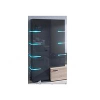 Шкаф 2-дверная Шайн серый