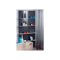 Навесной Книжный шкаф Шайн серый