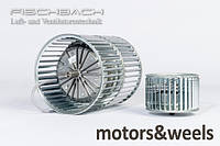 Мотор-колесо з впередзагнутими лопатками