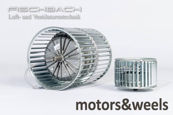 Мотор-колесо з впередзагнутими лопатками, фото 1