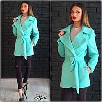 Женское стильное пальто на запах (5 цветов)