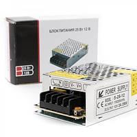 Импульсный блок питания 12В 25Вт качественные електроные компоненты